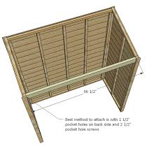 Plans To Build A Small Wood Shed by Ana White Small Cedar Fence Picket Storage Shed Diy Projects