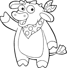 Coloriage Vache Dora Lexploratrice à Imprimer 3517 Vache Tachetee