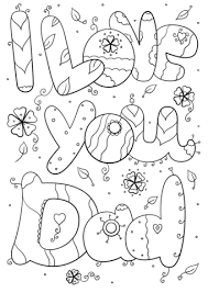 Click To See Printable Version Of I Love You Dad Coloring Page