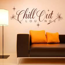 wandtattoo chill out loungespruch wohnzimmer schlafzimmer