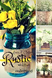 Easy DIY Rustic Wedding Centerpieces