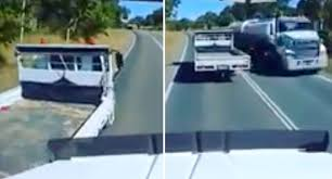 100 Truck Dash Cam Dramatic Moment Truck Nearly Collides With Another Is Caught