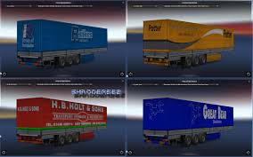 100 Truck Trailer Manufacturers UK Haulage Companies Pack 1 V11 ETS2 Mods Euro Truck
