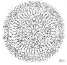 A Free Mandala Coloring Page