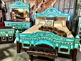 This Is Such A Gorgeous Country Bedroom Set Turquoise Rustic
