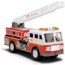 100 Tonka Mighty Motorized Fire Truck Ladder Engine Vehicle With Realistic