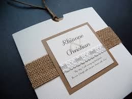 Rustic Hessian And Lace Themed Wallet Style Wedding Invitation