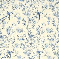 Curtain Fabric John Lewis by Summer Palace Royal Blue Floral Linen Mix Curtain Fabric At Laura
