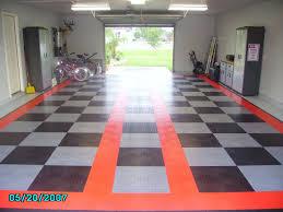 flooring lavish garage desin with vct tile and rolling door