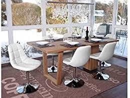 6 x esszimmerstuhl weiß stuhlset stühle drehbar küche modern