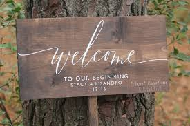 Welcome To Our Beginning Wedding Sign Wooden