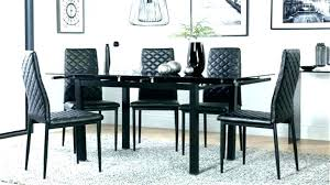 Dining Room Chair Black And Chairs White Table Chrome