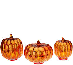 Green Bay Packers Pumpkin by Set Of 3 Indoor Outdoor Mercury Glass Pumpkins By Valerie Page 1