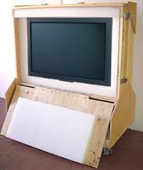 Flat Panel TV Crate With Television Wood