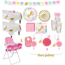 Sparkling Unicorn 1st Birthday Deluxe Party Kit For 32 Guests ... Buy 1st Birthday Boy Decorations Kit Beautiful Colors For Girl First Gifts Baby Hallmark Watsons Party Holy City Chic Interior Landing Page Html Template Pirate Shark High Chair Decoration Amazoncom Glitter Photo Garland Pink Toys Games Mickey Mouse Decorating Turning One Flag Banner To And Gold