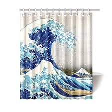 pkqwtm große welle natur kunst badezimmer badezimmer dekor bad duschvorhang 150x180 cm