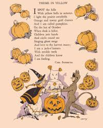 Poems About Halloween For Adults by Halloween Vintage Printed Poem Halloween Ideas Pinterest