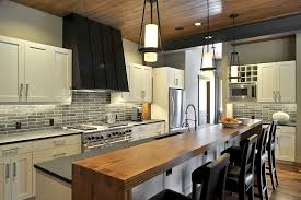 Long And Stylish Kitchen Island With Seating For 4