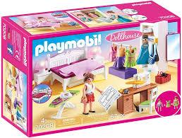 playmobil dollhouse 70208 schlafzimmer und nähstudio mit lichteffekten ab 4 jahren