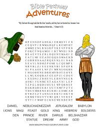 A Word Search Puzzle From The Bible Story Thrown To Lions