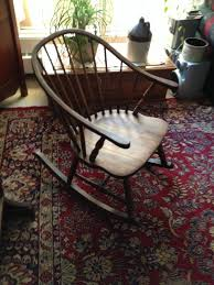 Sam Maloof Rocking Chair Auction by Gorgeous Antique Windsor Rocking Chair In Antiques Furniture