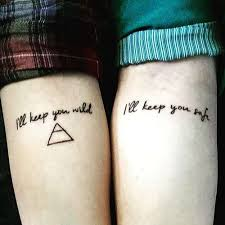 Couple Forearm Quote Tattoo