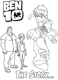 Ben Ten Coloring Book Games Free Pages