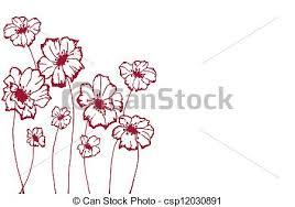 Stylized Flowers Stock Illustration