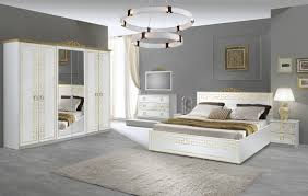 schlafzimmer olimp in weiss gold yatego