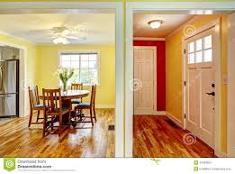 Download House Interior Entrance Hallway And Dining Room Stock Photo