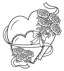 Pencil Drawings Of Hearts And Roses