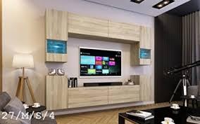 future 27 wohnwand anbauwand wand schrank tv schrank wohnzimmer wohnzimmerschrank matt sonoma led rgb beleuchtung 27 m s 4 möbel