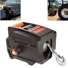 100 Atv Truck Electric Winch Towing 12 V Volt Portable Boat ATV Trailer 6000