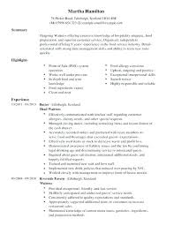Restaurant Server Resume Sample Food Example Cheap Dissertation Conclusion Editor Websites Objective For Experienced Banking