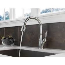 Delta Touch Faucet Battery Location by Delta Faucet 9178t Dst Leland Polished Chrome Pullout Spray