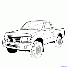 How To Draw A Pickup Truck, Pickup Truck Step 19 | My Style ...