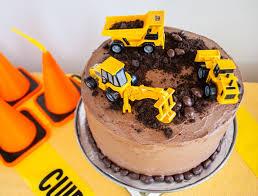 100 Truck Birthday Cakes Easy Construction Cake Merriment Design