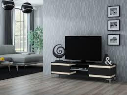 fiske tv schrank tv board lowboard fernsehtisch led beleuchtung matt weiß schwarz sonoma 160 cm esa home