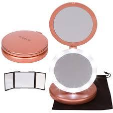 iluminate folding makeup mirror lighted vanity mirror with small