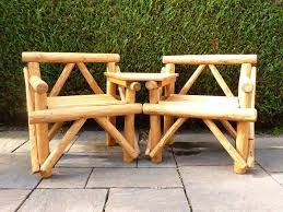 Elegant Rustic Garden Furniture Outdoor Bench In