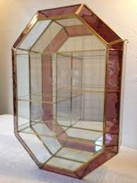 Small Glass Curio Cabinet Display Case