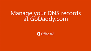 Add your GoDaddy domain to fice 365 Nameservers to point to