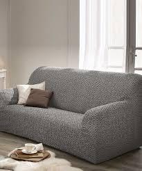 housse extensible pour canapé housse extensible de canapé et fauteuil gris textile de maison