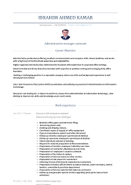 Manager Assistant - Resume Samples And Templates | VisualCV Administrative Assistant Resume 2019 Guide Examples 1213 Administrative Assistant Resume Sample Full 12 Samples University Sample New 10 Top Executive Rumes Cover Letter Medical Skills Unique Fice Objective Tipss Executive Complete 20 Of Objectives Vosvenet The Ultimate To