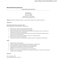 Sample Resume For Retail Banker With Bank Branch Manager