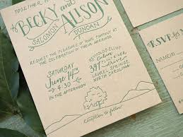 Rustic Hand Lettered Wedding Invitation Bright Room Studio