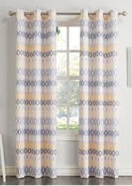 amazon com ankara window curtain yellow 84 panel home kitchen