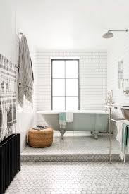 05 grey subway tiles and hex tiles for a peacful look digsdigs