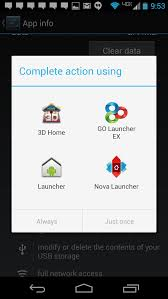 Setting the default home screen on the Android platform