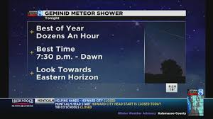 Meteor shower expected to light up W MI sky Wednesday